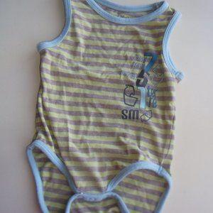 Blue Beige Yellow Souris Mini Onesie 12 months